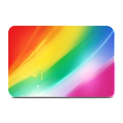 Red Yellow White Pink Green Blue Rainbow Color Mix Plate Mats by Mariart