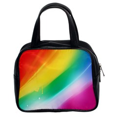 Red Yellow White Pink Green Blue Rainbow Color Mix Classic Handbags (2 Sides) by Mariart