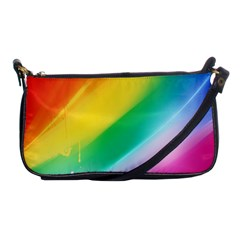 Red Yellow White Pink Green Blue Rainbow Color Mix Shoulder Clutch Bags by Mariart