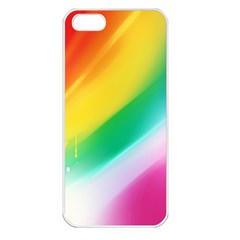 Red Yellow White Pink Green Blue Rainbow Color Mix Apple Iphone 5 Seamless Case (white) by Mariart