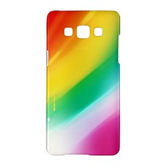 Red Yellow White Pink Green Blue Rainbow Color Mix Samsung Galaxy A5 Hardshell Case  by Mariart