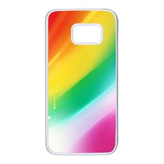 Red Yellow White Pink Green Blue Rainbow Color Mix Samsung Galaxy S7 White Seamless Case by Mariart