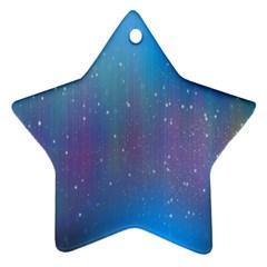 Rain Star Planet Galaxy Blue Sky Purple Blue Star Ornament (two Sides) by Mariart