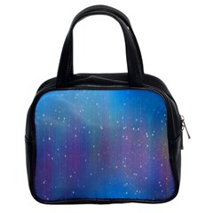Rain Star Planet Galaxy Blue Sky Purple Blue Classic Handbags (2 Sides) by Mariart