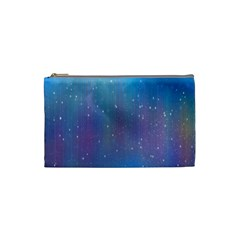 Rain Star Planet Galaxy Blue Sky Purple Blue Cosmetic Bag (small)  by Mariart