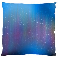 Rain Star Planet Galaxy Blue Sky Purple Blue Large Cushion Case (two Sides) by Mariart