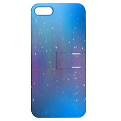 Rain Star Planet Galaxy Blue Sky Purple Blue Apple Iphone 5 Hardshell Case With Stand by Mariart