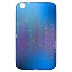 Rain Star Planet Galaxy Blue Sky Purple Blue Samsung Galaxy Tab 3 (8 ) T3100 Hardshell Case  by Mariart
