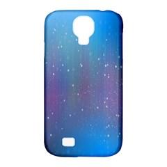 Rain Star Planet Galaxy Blue Sky Purple Blue Samsung Galaxy S4 Classic Hardshell Case (pc+silicone) by Mariart