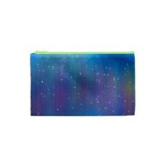 Rain Star Planet Galaxy Blue Sky Purple Blue Cosmetic Bag (xs) by Mariart
