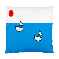 Ship Sea Beack Sun Blue Sky White Water Standard Cushion Case (one Side) by Mariart