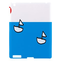 Ship Sea Beack Sun Blue Sky White Water Apple Ipad 3/4 Hardshell Case by Mariart