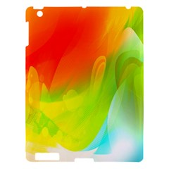 Red Yellow Green Blue Rainbow Color Mix Apple Ipad 3/4 Hardshell Case by Mariart
