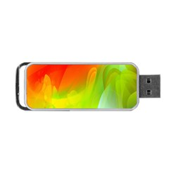 Red Yellow Green Blue Rainbow Color Mix Portable Usb Flash (one Side) by Mariart