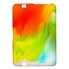 Red Yellow Green Blue Rainbow Color Mix Kindle Fire Hd 8 9  by Mariart