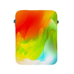 Red Yellow Green Blue Rainbow Color Mix Apple Ipad 2/3/4 Protective Soft Cases by Mariart