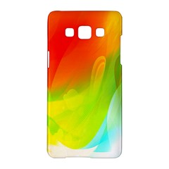 Red Yellow Green Blue Rainbow Color Mix Samsung Galaxy A5 Hardshell Case  by Mariart