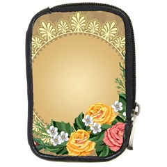 Rose Sunflower Star Floral Flower Frame Green Leaf Compact Camera Cases by Mariart