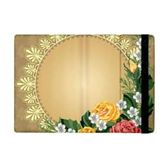 Rose Sunflower Star Floral Flower Frame Green Leaf Ipad Mini 2 Flip Cases by Mariart