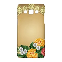 Rose Sunflower Star Floral Flower Frame Green Leaf Samsung Galaxy A5 Hardshell Case  by Mariart
