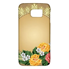 Rose Sunflower Star Floral Flower Frame Green Leaf Galaxy S6 by Mariart