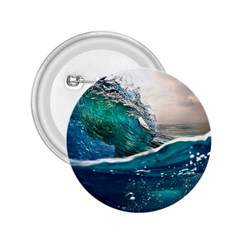 Sea Wave Waves Beach Water Blue Sky 2 25  Buttons by Mariart