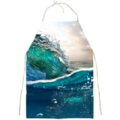 Sea Wave Waves Beach Water Blue Sky Full Print Aprons by Mariart