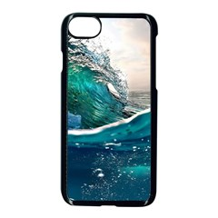 Sea Wave Waves Beach Water Blue Sky Apple Iphone 7 Seamless Case (black) by Mariart