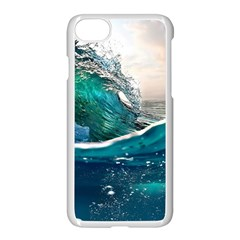 Sea Wave Waves Beach Water Blue Sky Apple Iphone 7 Seamless Case (white) by Mariart