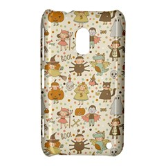 Sinister Helloween Cat Pumkin Bat Ghost Polka Dots Vampire Bone Skull Nokia Lumia 620 by Mariart