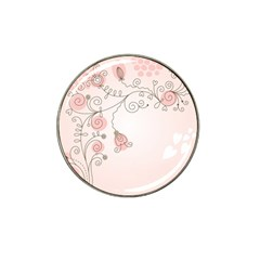 Simple Flower Polka Dots Pink Hat Clip Ball Marker by Mariart