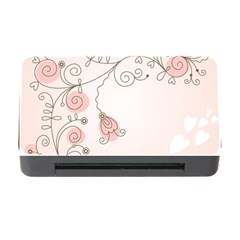 Simple Flower Polka Dots Pink Memory Card Reader With Cf by Mariart