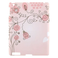 Simple Flower Polka Dots Pink Apple Ipad 3/4 Hardshell Case by Mariart