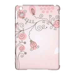 Simple Flower Polka Dots Pink Apple Ipad Mini Hardshell Case (compatible With Smart Cover) by Mariart
