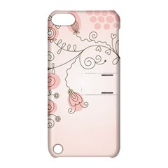 Simple Flower Polka Dots Pink Apple Ipod Touch 5 Hardshell Case With Stand by Mariart