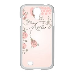 Simple Flower Polka Dots Pink Samsung Galaxy S4 I9500/ I9505 Case (white) by Mariart