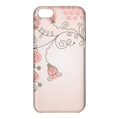 Simple Flower Polka Dots Pink Apple Iphone 5c Hardshell Case by Mariart