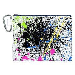 Spot Paint Pink Black Green Yellow Blue Sexy Canvas Cosmetic Bag (xxl) by Mariart