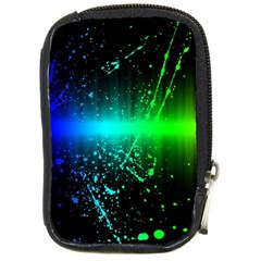 Space Galaxy Green Blue Black Spot Light Neon Rainbow Compact Camera Cases by Mariart
