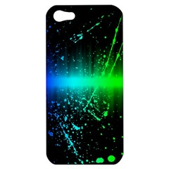 Space Galaxy Green Blue Black Spot Light Neon Rainbow Apple Iphone 5 Hardshell Case by Mariart