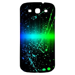 Space Galaxy Green Blue Black Spot Light Neon Rainbow Samsung Galaxy S3 S Iii Classic Hardshell Back Case by Mariart