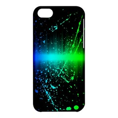 Space Galaxy Green Blue Black Spot Light Neon Rainbow Apple Iphone 5c Hardshell Case by Mariart