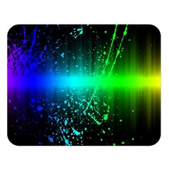 Space Galaxy Green Blue Black Spot Light Neon Rainbow Double Sided Flano Blanket (large)  by Mariart
