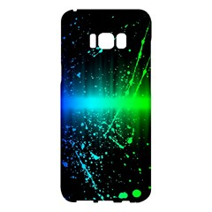 Space Galaxy Green Blue Black Spot Light Neon Rainbow Samsung Galaxy S8 Plus Hardshell Case  by Mariart