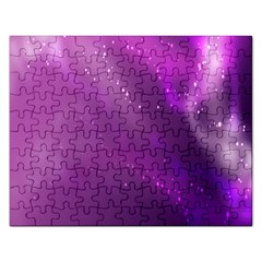 Space Star Planet Galaxy Purple Rectangular Jigsaw Puzzl