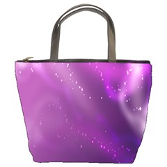 Space Star Planet Galaxy Purple Bucket Bags by Mariart
