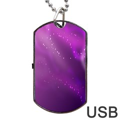 Space Star Planet Galaxy Purple Dog Tag Usb Flash (two Sides) by Mariart