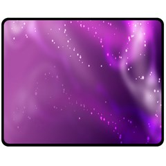 Space Star Planet Galaxy Purple Double Sided Fleece Blanket (medium)  by Mariart