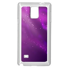 Space Star Planet Galaxy Purple Samsung Galaxy Note 4 Case (white) by Mariart