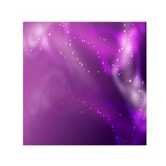 Space Star Planet Galaxy Purple Small Satin Scarf (square) by Mariart